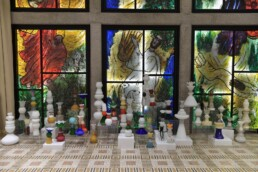 Special installation to commemorate 82 years for the Crystal Nacht. The residency of the president of Israel, Jerusalema